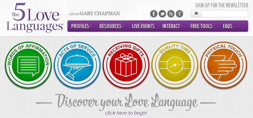 Five Love Languages web
